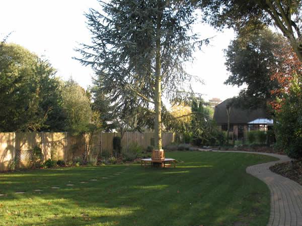 Large garden redesign greenwood landscapes for Garden redesign